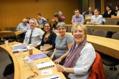 From left: Vincent Roquet, Heather Randell, Professor Dolores Koenig, Professor Joy Bilharz