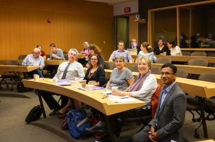 From left: Vincent Roquet, Heather Randell, Professor Dolores Koenig, Professor Joy Bilharz, Vikramaditya Thakur