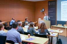Vincent Roquet of the World Bank's Global Programs Unit addresses the audience during his talk
